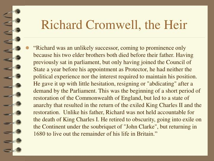 Richard Cromwell, the Heir