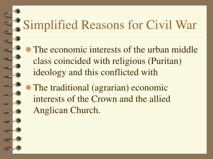Simplified Reasons for Civil War
