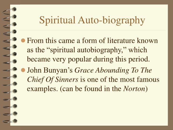 Spiritual Auto-biography