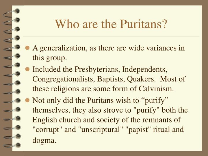 Who are the Puritans?