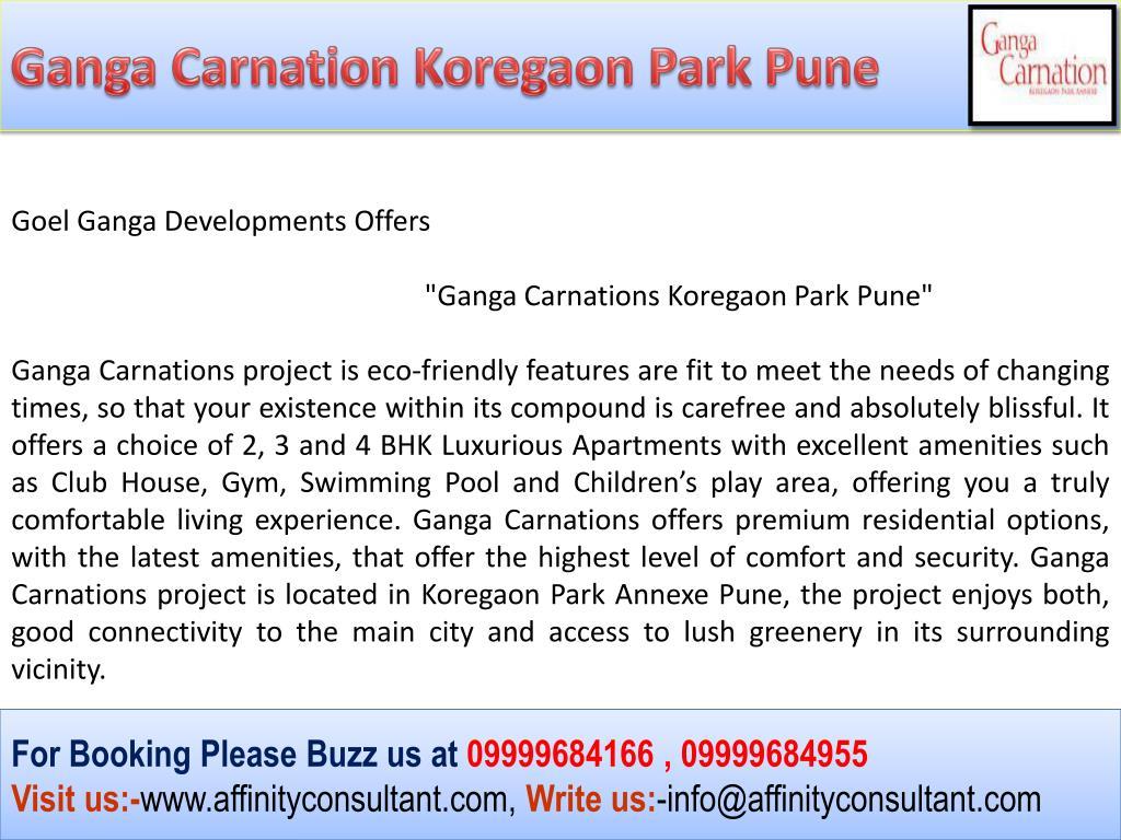Ganga Carnation Koregaon Park Pune