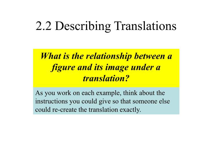 2 2 describing translations