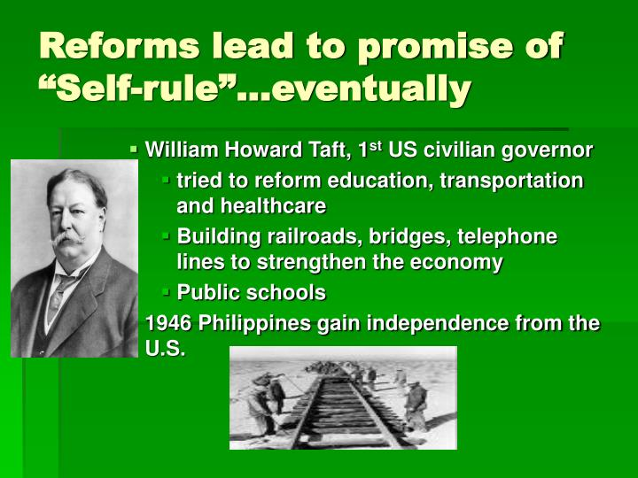 "Reforms lead to promise of ""Self-rule""…eventually"