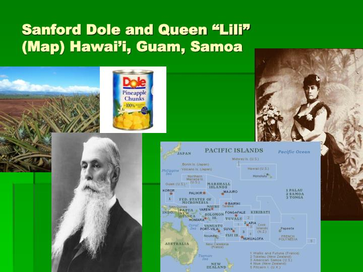 "Sanford Dole and Queen ""Lili"""