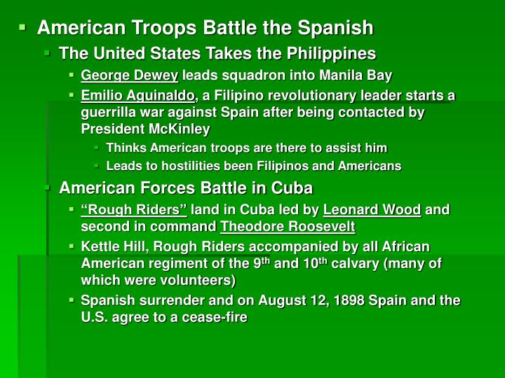 American Troops Battle the Spanish