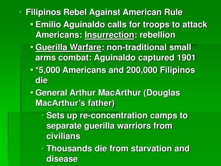 Filipinos Rebel Against American Rule