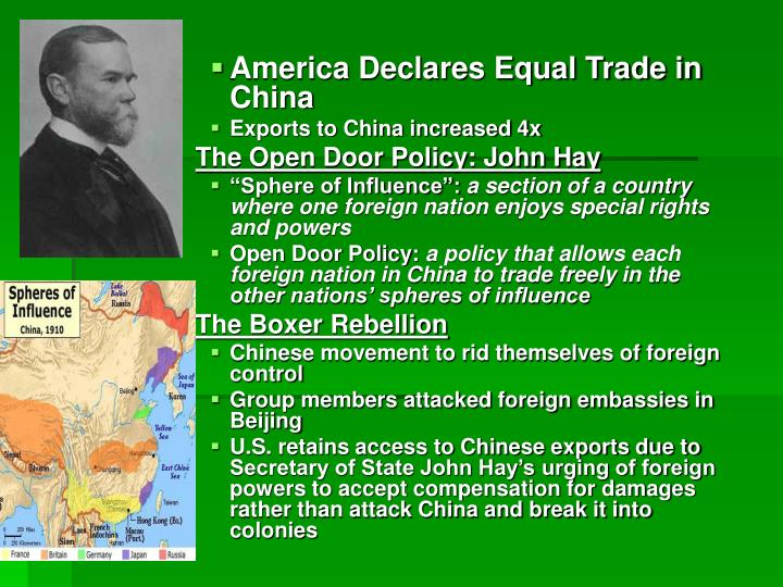 America Declares Equal Trade in China