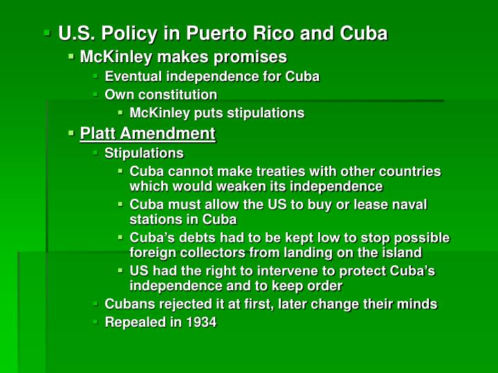 U.S. Policy in Puerto Rico and Cuba