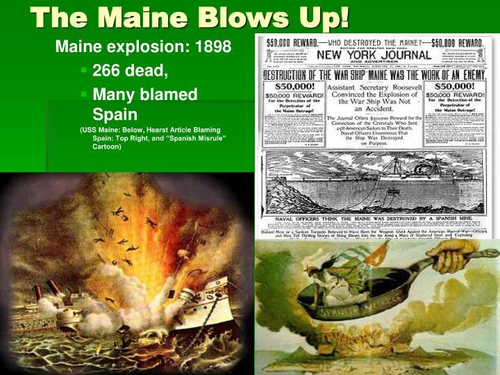 Maine explosion: 1898