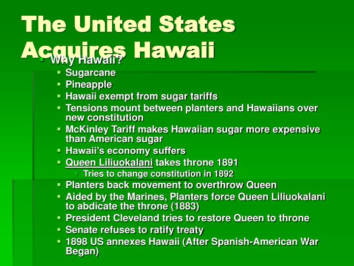The United States Acquires Hawaii