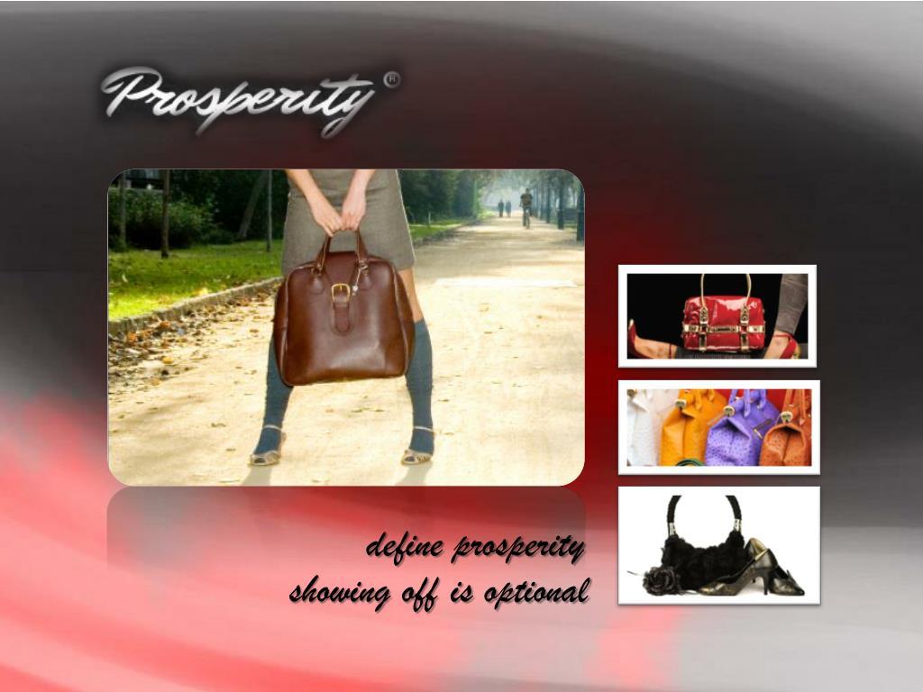 define prosperity