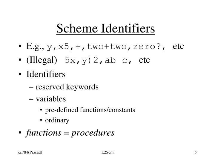 Scheme Identifiers