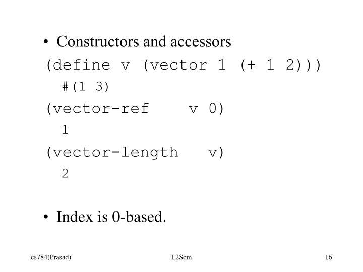 Constructors and accessors