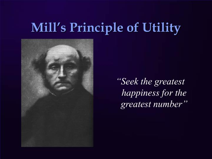 Mill's argument for the Greatest Happiness Principle essay