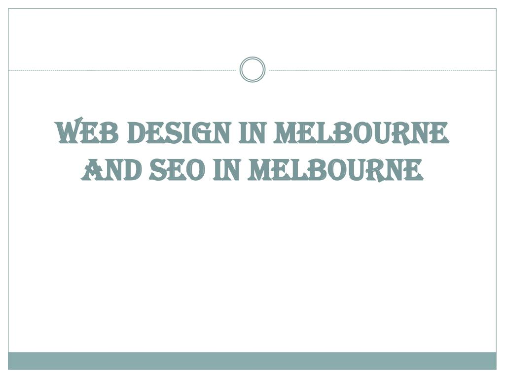Web Design in Melbourne and SEO in