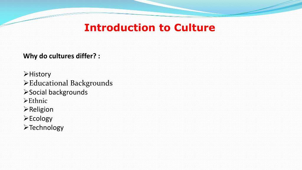 Introduction to Culture