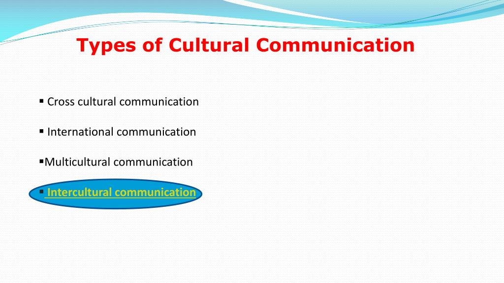 Types of Cultural Communication