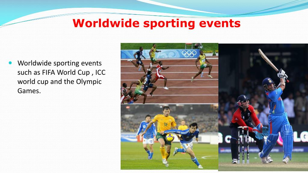 Worldwide sporting events