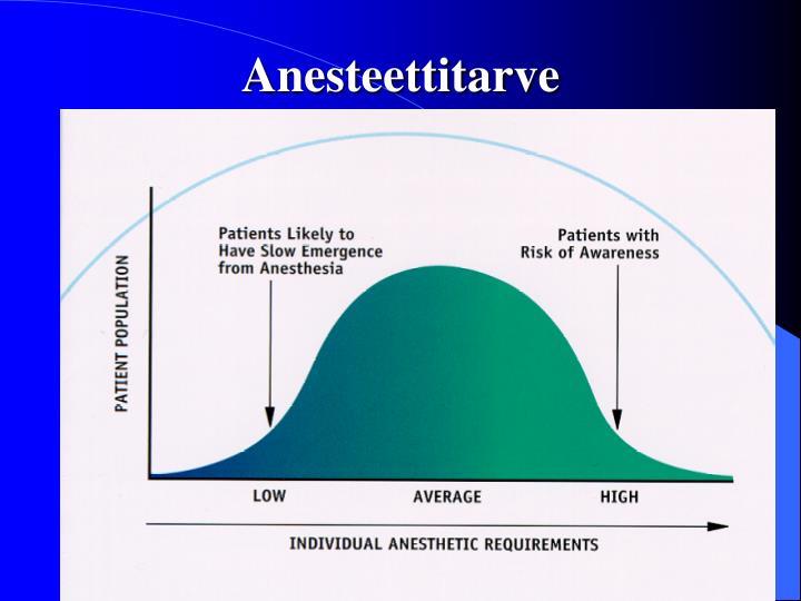 Anesteettitarve