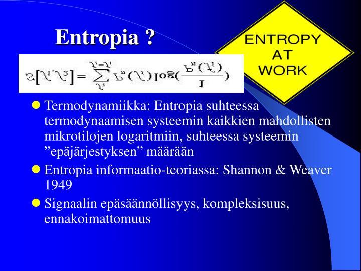 Entropia ?