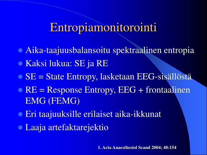 Entropiamonitorointi