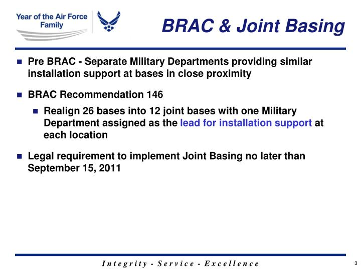 BRAC & Joint Basing
