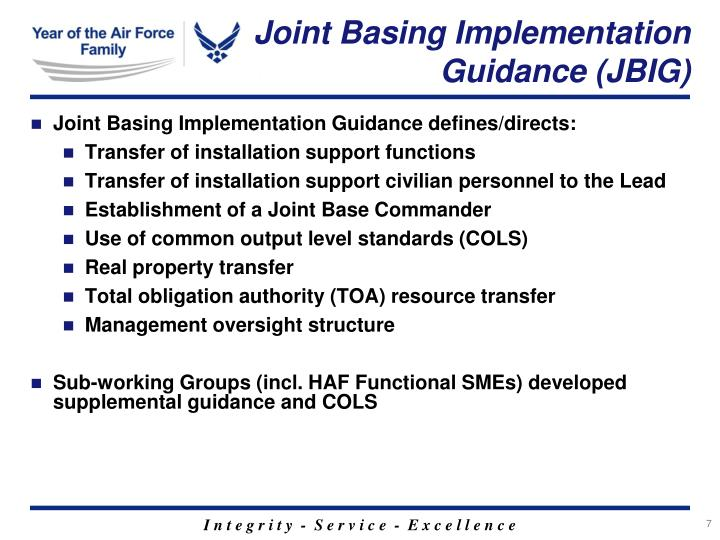 Joint Basing Implementation