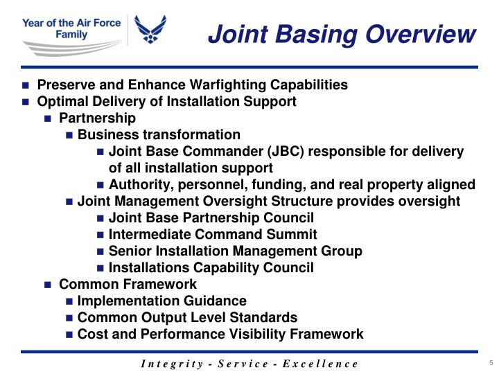 Joint Basing Overview