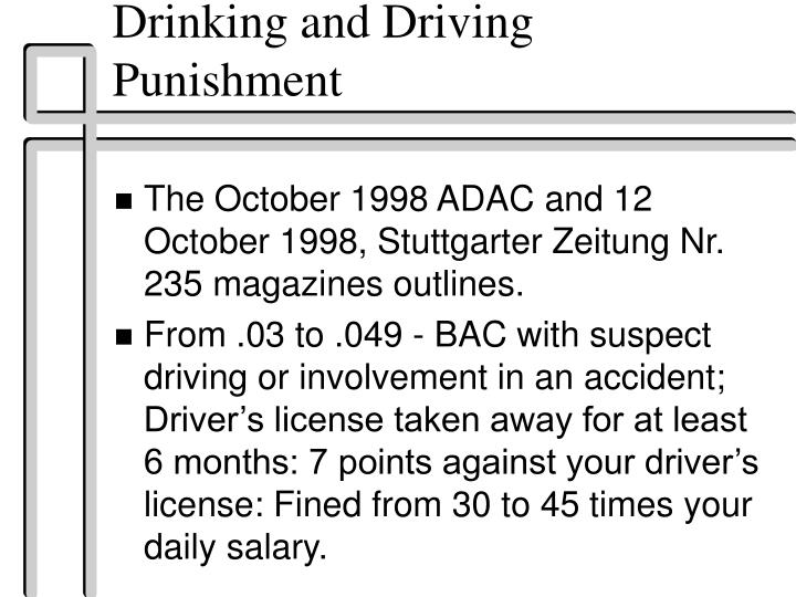 Drinking and Driving Punishment