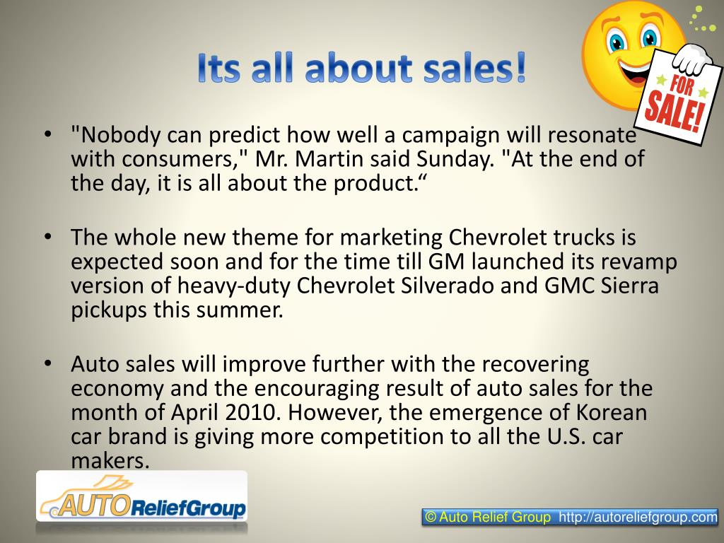 Its all about sales!