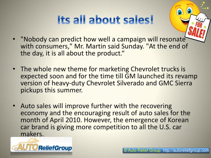Its all about sales