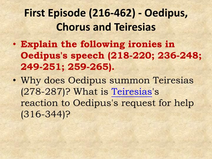 reaction to oedipus the king In the classical story of oedipus the king, the story revolves about the prophecy  made by the god about the destiny of oedipus it is a classic literature from the.