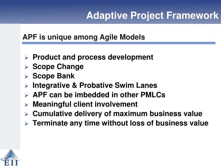 Adaptive Project Framework: A new level of agile development