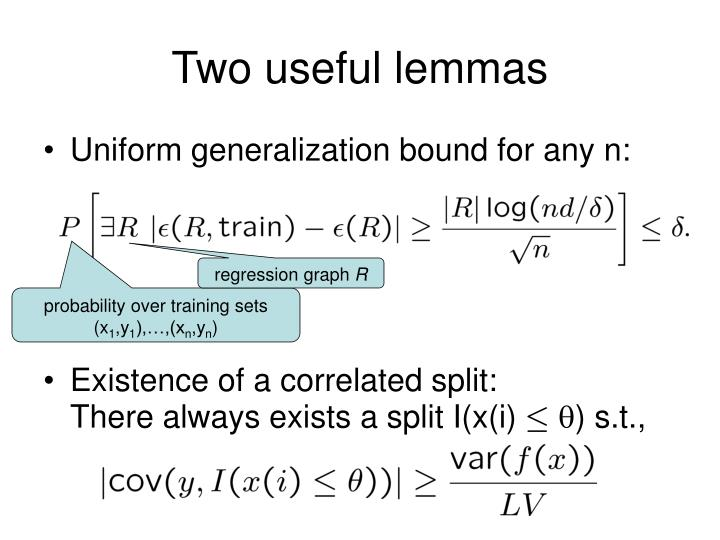 Two useful lemmas