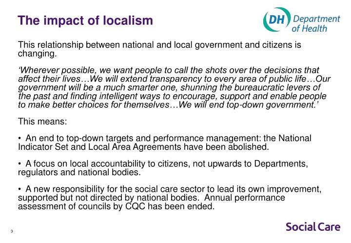 The impact of localism