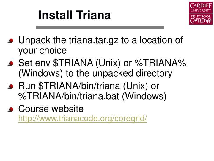 Install Triana