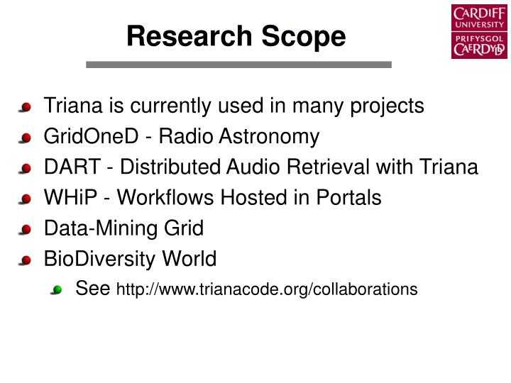 Research Scope
