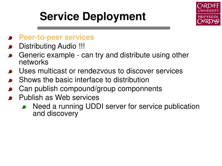 Service Deployment