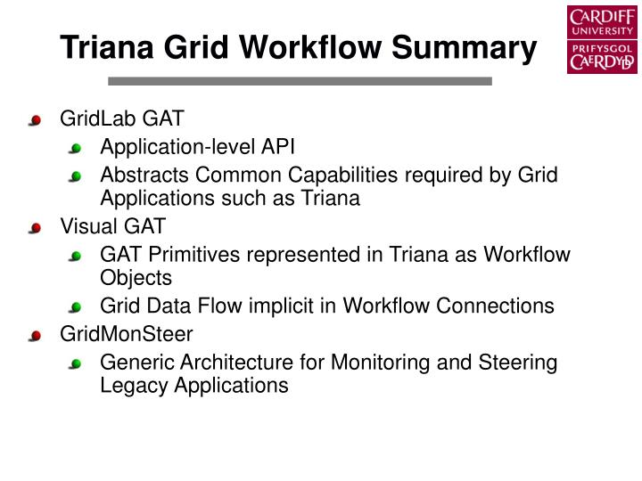 Triana Grid Workflow Summary