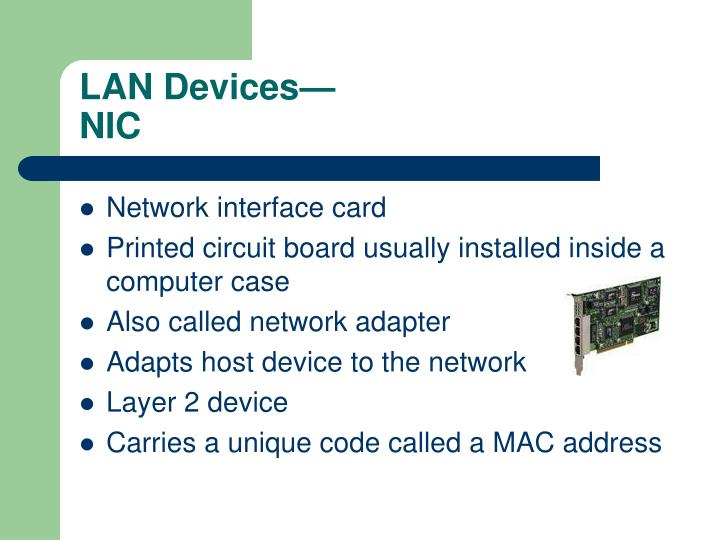 Lan devices nic