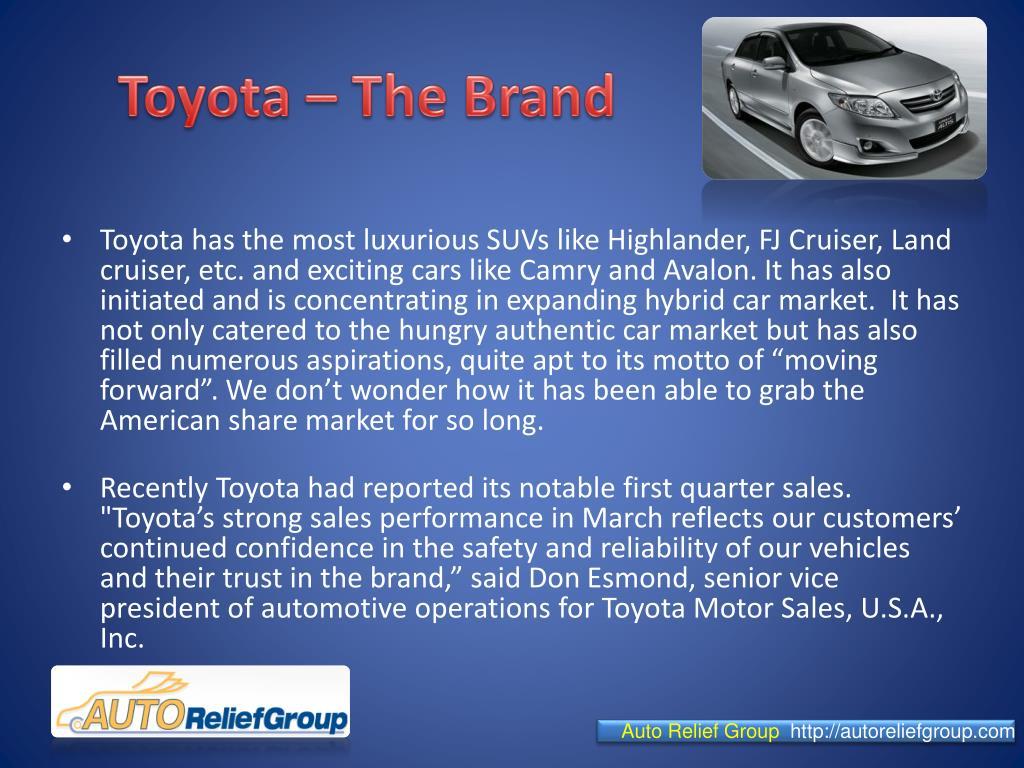 Toyota – The Brand