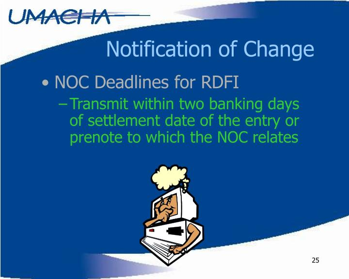 Notification of Change