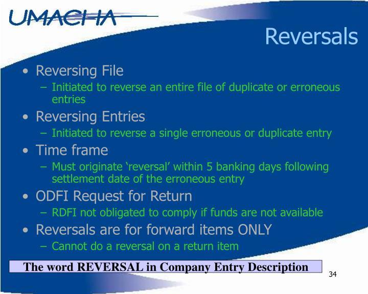 Reversals