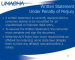 written statement under penalty of perjury