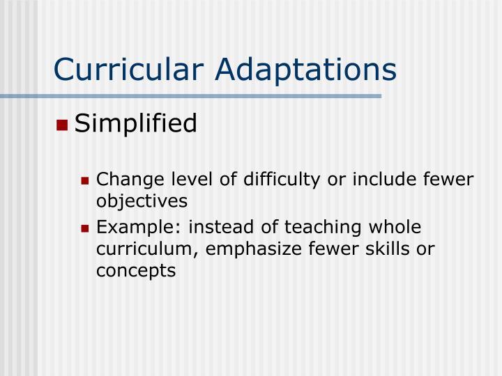 Curricular Adaptations