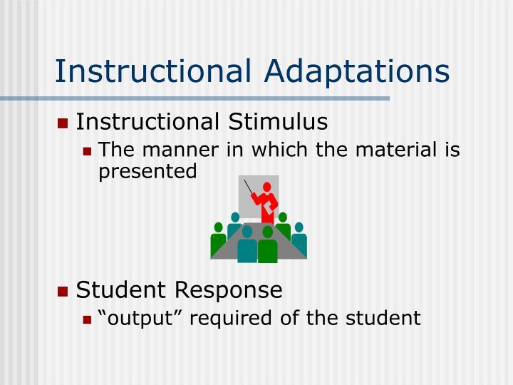 Instructional Adaptations