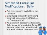simplified curricular modifications sally