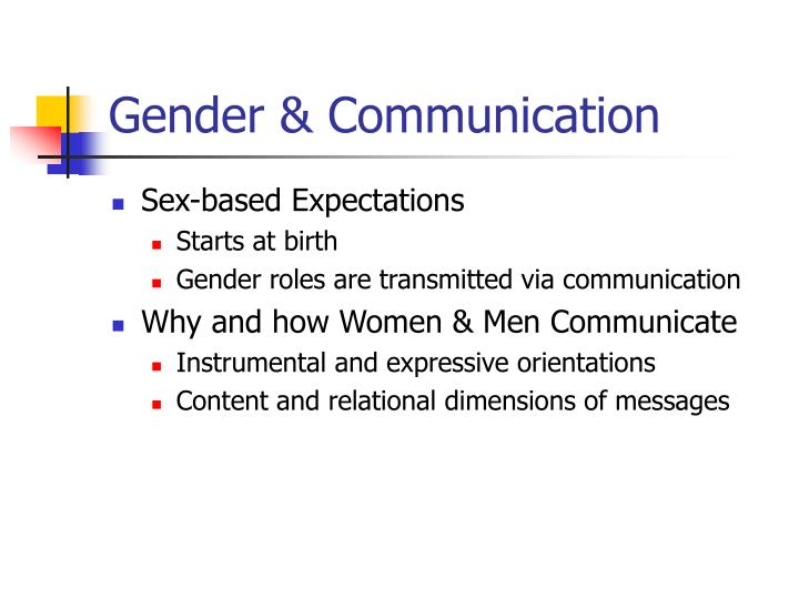 differences in gender communication stereotyping Gender differences within the  how can cultural differences affect business communication the effects of gender stereotype  how does stereotyping.