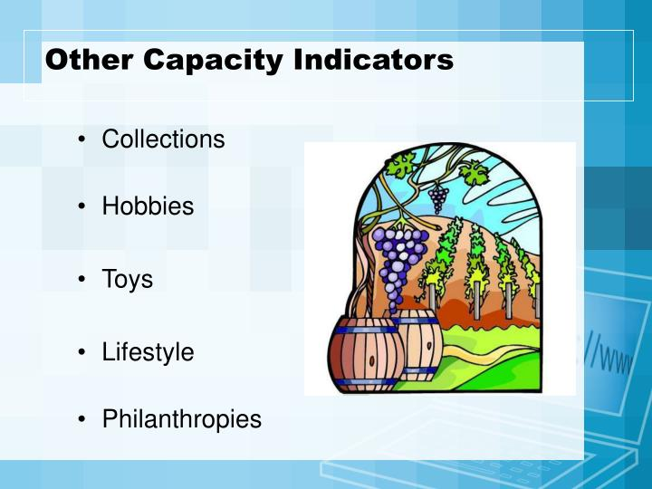 Other Capacity Indicators