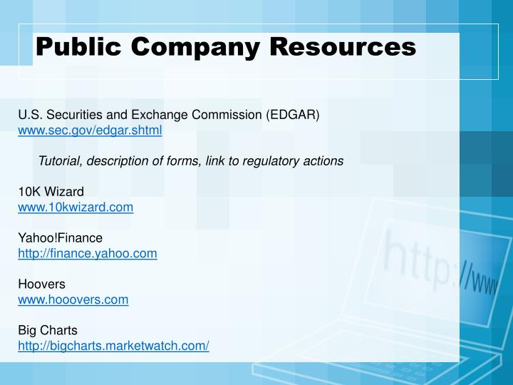 Public Company Resources
